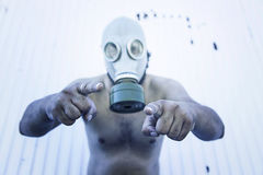 Man contaminated virus Royalty Free Stock Image
