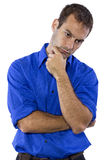Man Contemplating Thoughts Royalty Free Stock Image