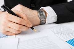 Man with contract Stock Photography