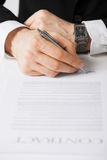 Man with contract Royalty Free Stock Images