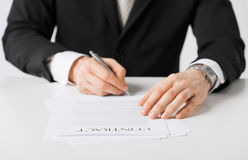 Man with contract Royalty Free Stock Photo
