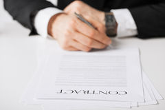 Man with contract Royalty Free Stock Photos