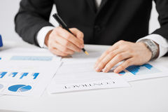 Man with contract Stock Images