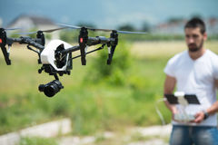 Man Controling a Drone royalty free stock photography