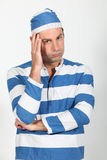 Man in convict costume Stock Photos
