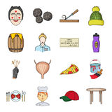 Man, cook, cap and other web icon in cartoon style. table, legs, kitchen icons in set collection. Royalty Free Stock Photos