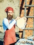 Man cook holding dough Stock Photography