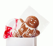 Man cookie gift box Royalty Free Stock Image