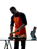Man cooking chef silhouette isolated Stock Photo