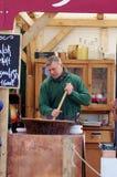 Man cooking goulash Stock Image