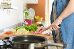 Man cooking Royalty Free Stock Images