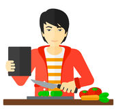 Man cooking meal. Royalty Free Stock Photography