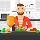 Man cooking meal. Royalty Free Stock Photo