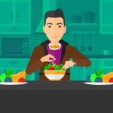 Man cooking meal. Stock Photos