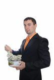 The man cooking money Stock Images
