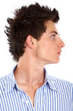 Man with cool hair Royalty Free Stock Images