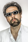 Man with cool sun glasses stock images