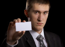 Man with copy space Stock Photography