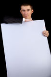 Man with copy space Royalty Free Stock Photo