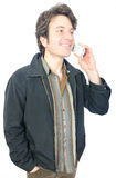 Man on Cordless Phone Stock Images