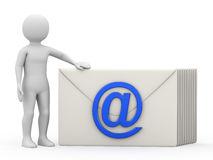 The man with correspondence, 3d rendering Royalty Free Stock Photos
