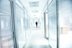 Man in corridor Stock Photos