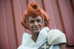 Man with cosplay costume at cosplay exhibition event Stock Photography