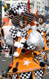 Man in costume. In a summer carnaval street parade (Rotterdam, Netherlands, 2008 stock images