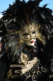 Man in costume at Carnival of Venice 2011 Royalty Free Stock Images