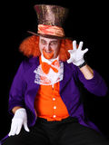 Man in costume. Man dressed in halloween costume with orange hair Royalty Free Stock Images