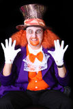 Man in costume. Man dressed in halloween costume with orange hair Stock Photo