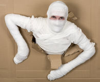 Man in costume mummy Stock Images