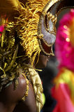 Man in costume nottinghill carnival london Royalty Free Stock Photography