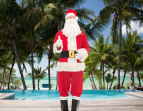 Man in costume of santa claus Stock Images
