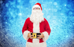 Man in costume of santa claus Royalty Free Stock Photo
