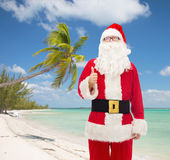 Man in costume of santa claus Royalty Free Stock Image