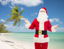 Man in costume of santa claus Royalty Free Stock Photography