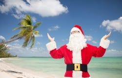 Man in costume of santa claus Royalty Free Stock Photos