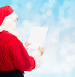 Man in costume of santa claus with letter Royalty Free Stock Images