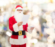Man in costume of santa claus with letter Royalty Free Stock Image