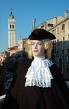 Man in costume at Venice carnival 2011 Royalty Free Stock Photography