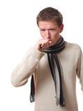 Man coughing Royalty Free Stock Image