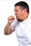 Man Coughing In Fist Royalty Free Stock Images