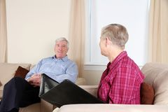 Man in Counseling Royalty Free Stock Photography