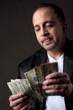Man Counting Money Royalty Free Stock Photography