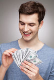 Man counting money Stock Photo