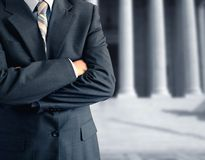 Man at the courthouse Royalty Free Stock Photo
