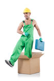 Man in coveralls Stock Photo