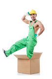 Man in coveralls Royalty Free Stock Images