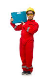 The man in coveralls isolated on white Royalty Free Stock Image